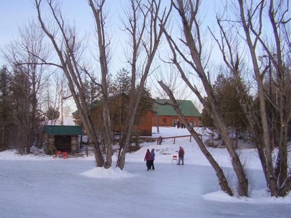 patin dans un site enchanteur